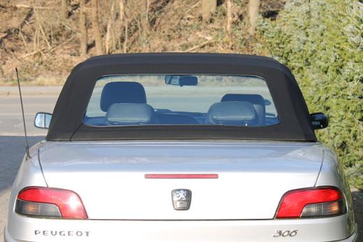 Peugeot 306 Cabrio Heckscheibe mit Reißverschluss Flexglas